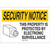 "Brady® ""Notice This Property Is Protected By..."" Sign, 10"" x 14"""