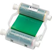 Brady® B30 Series R10000 Single Color Printer Ribbon, Green