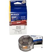 "Brady® BMP®21 Mobile Printer Indoor/Outdoor Vinyl Labels, 1/2"", Black on White"