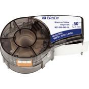 """Brady® BMP®21 Mobile Printer Indoor/Outdoor Vinyl Labels, 1/2"""", Black on Yellow"""
