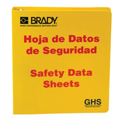 "Brady® GHS Standard SDS Binder, 1 1/2"" Rings, Bilingual"