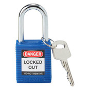 Brady® Safety Padlock, Blue, 1/Pkg