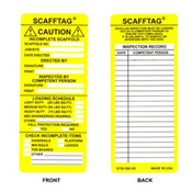 Brady® Scafftag® Caution Inserts, Yellow