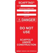 Brady® Scafftag® Danger Inserts, Red
