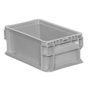 "Buckhorn® Straight Wall Container, 12""L x 7""W x 5""H, Light Gray"