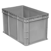 "Buckhorn® Straight Wall Container, 24""L x 15""W x 14""H, Light Gray"