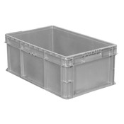 "Buckhorn® Straight Wall Container, 24""L x 15""W x 7""H, Light Gray"
