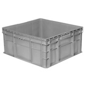 "Buckhorn® Straight Wall Container, 24""L x 22""W x 11""H, Light Gray"