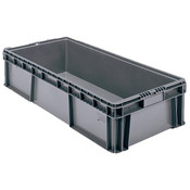 "Buckhorn® Straight Wall Container, 32""L x 15""W x 8""H, Dark Gray"