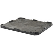 "Buckhorn® Structural Foam Lid (For 48"" x 40"" Agricultural Boxes w/ 5 Runners) 48""L x 40""W x 2""H, Black"