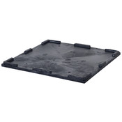 "Buckhorn® Structural Foam Lid (For 48"" x 45"" Heavy-Duty Boxes), 48""L x 45""W x 2""H, Black"