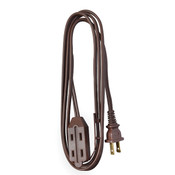 Cube Tap Extension Cord, 9', Brown
