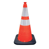"Enviro-Cone® Traffic Cone, 18"" w/ 6"" Reflective Collar, 3 lb"