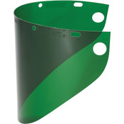 Fibre-Metal® High Performance Face Shield w/ Wide View, Dark Green