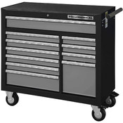 "GearWrench® XL Series 11-Drawer Roller Cabinet, 39""H x 42""W x 19""D, Black/Silver"