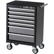 "GearWrench® XL Series 7-Drawer Roller Cabinet, 39""H x 26 1/2""W x 18""D, Black/Silver"