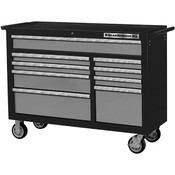 "GearWrench® XL Series 9-Drawer Roller Cabinet, 39 1/2""H x 53""W x 19""D, Black/Silver"