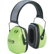 Howard Leight Leightning® Earmuffs, L3HV Headband, NRR 30, Hi-Vis Bright Green