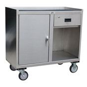 Jamco Stainless Steel Mobile Cabinet, 1 Drawer & 1 Door