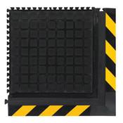 "M + A Hog Heaven III Modular Tile Comfort Mat, Corner Tile, Yellow Border, 21 7/8"" x 21 7/8"""
