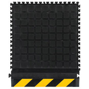 "M + A Hog Heaven III Modular Tile Comfort Mat, Side Tile, Yellow Border, 18"" x 21 7/8"""