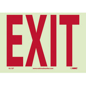 """NMC™ Exit Sign (6-Hour Glow), Polyester, 7"""" x 10"""""""