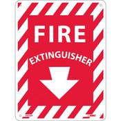 "NMC™ Fire Extinguisher Sign, Rigid Plastic, 12"" x 9"""