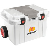 Pelican™ Elite Cooler (Wheeled) w/ Trolley Handle, 55 qt, White