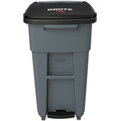 Rubbermaid® Brute® Step-On Rollout w/ Casters