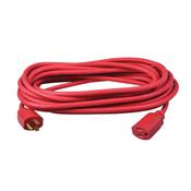 Vinyl SJTW Outdoor Extension Cord, 14/3 ga, 15 A, 25', Red