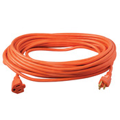 Vinyl SJTW Outdoor Extension Cord, 14/3 ga, 15 A, 50', Orange