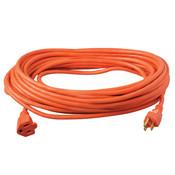Vinyl SJTW Outdoor Extension Cord, 14/3 ga, 15 A, 50', Orange