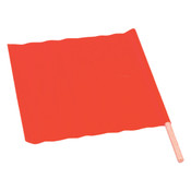 "TruForce™ All-Weather Traffic Flag, 18"" x 18"" w/ 24"" Dowel"