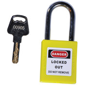 TruForce™ Safety Padlock w/ Steel Shackle, Yellow