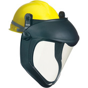 Uvex® Bionic Shield Face Shield w/ Hard Hat Adapter (No Suspension), Uncoated Visor