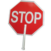 Stop/Slow Plastic Traffic Paddle, Non-Reflective