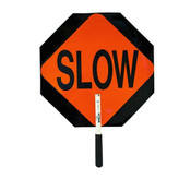 Stop/Slow Plastic Traffic Paddle, Reflective