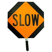 Stop/Slow Traffic Paddle, Aluminum