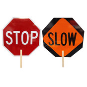 "VizCon Stop/Slow Paddle w/ Wooden Handle, 18"""