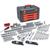 GearWrench® 219-Piece, 6- & 12-Point Mechanic's Tool Set w/ 3-Drawer Storage Box, SAE/Metric