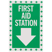 """First Aid Sign, Self-Adhesive Vinyl, 8"""" x 12"""""""