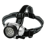 LED Headlight w/ Adjustable Lycra Headband, Black