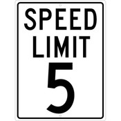 NMC™ Speed Limit '5' Sign