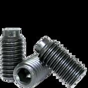 "#8-32 X 1/4"" Socket Set Screws 1/2 Dog Point, Alloy Thermal Black Oxide (5000/Bulk Pkg.)"