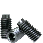 "1/4-28 X 3/8"" Socket Set Screws 1/2 Dog Point, Alloy Thermal Black Oxide (5000/Bulk Pkg.)"