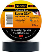 "3M SCOTCH SUPER 33+ VINYL ELECTRICAL TAPE 3/4"" X 66 Ft Black (10/Pkg.)"