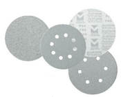 "Platinum Stearated Discs - Hook & Loop Discs 6"" x 6 Dust Holes, Grit/ Weight: 150C, Mercer Abrasives 558615 (50/Pkg.)"