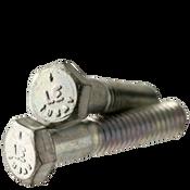 """1/4""""-28x5"""" Partially Threaded Hex Cap Screws Grade 5 Fine Med. Carbon Zinc CR+3 (USA) (50/Pkg.)"""