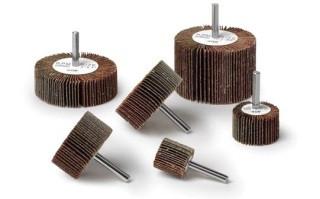 Random Products Inc 1 - 1/2 x 1 x 1/4 Shank 60 Grit Flap Wheel AO (50/Box)