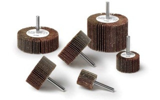 Random Products Inc 1 - 1/2 x 1 x 1/4 Shank 80 Grit Flap Wheel AO (1/Box)